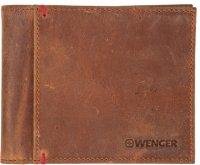 Портмоне wenger, кожа, цвет коричневый, 11х9см