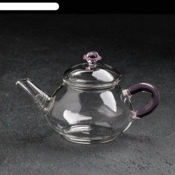 Чайник заварочный 250 мл валенсия с розой, с металлическим ситом