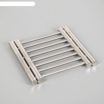 Сушилка на раковину раздвижная 22х20 (36,5)х2, нержавеющая сталь