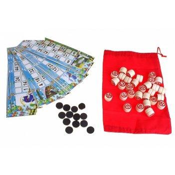 Игра настольная русское лото, 24 карты, в пакете