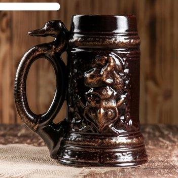 Кружка для пива рыцарь 1,0 л