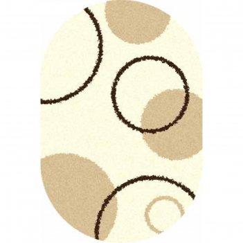 Ковёр shaggy ultra s610, 3*4 м, овал, cream