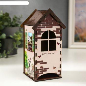 Чайный домик с котами 20 см