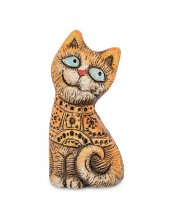 Kk-158 фигурка кошка-южные цветы шамот