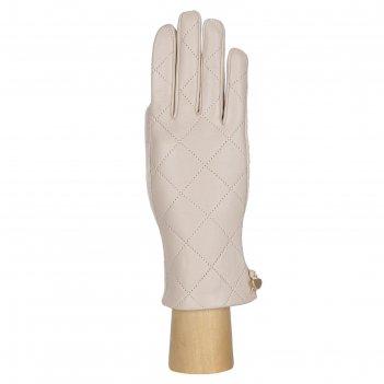 Перчатки женские натуральная кожа/шерсть (размер s) бежевый