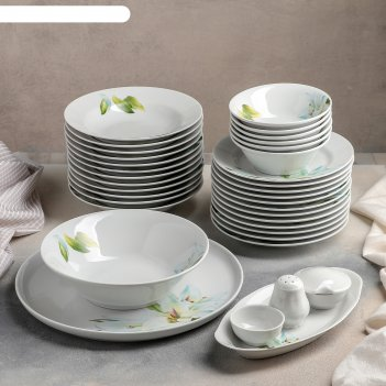 Сервиз столовый 36 предметов, 2 вида тарелок, идиллия. цветущая лилия