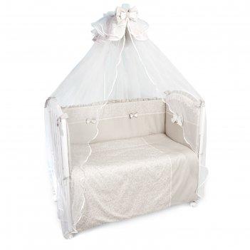 Комплект в кроватку «версаль», 7 предметов, бежевый
