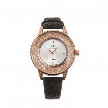Часы наручные женские фелиция, циферблат d=3.2 см, черные