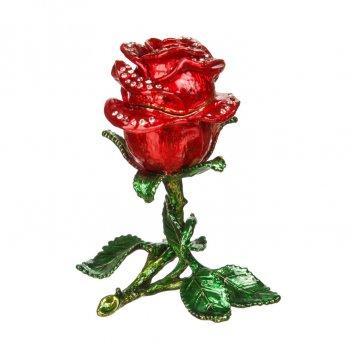 Шкатулка роза s-626с красный