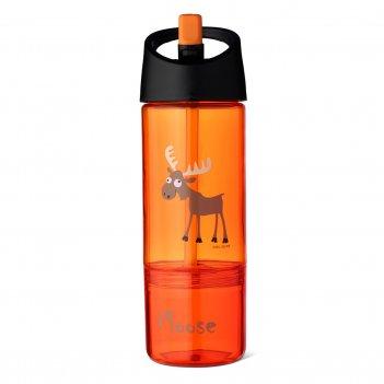 Детская бутылка 2в1 carl oscar moose оранжевая