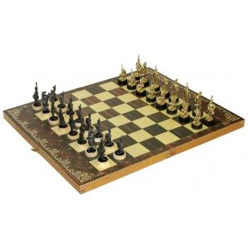 Шахматы исторические бородино с фигурами из черненого цинкового сплава