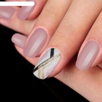 Накладные ногти на клеевой основе с декором «геометрия», глянцевые, цвет р