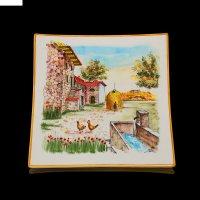 Картина керамическая итальянская деревня