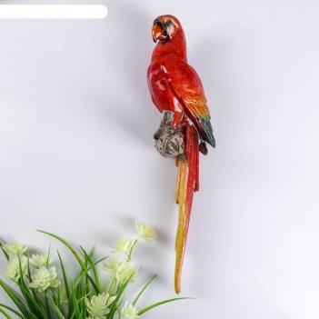 Сувенир полистоун лак панно попугай ара 34,5х8х9,5 см