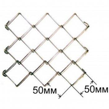 Сетка-рабица ячейка 50х50 мм, толщина 1,6мм, без покрытия (размер рулона 1