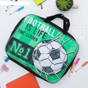 Папка с ручками текстиль а4 70мм 350*270 calligrata мал football