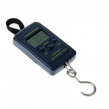 Весы электронные портативные lv-403, до 40 кг, (10 гр), чёрные