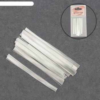 Стекловолокно для наращивания ногтей, 5 см, 10 шт
