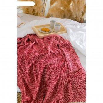 Плед «этель: марвари», 125 x 150 (±5) см, цвет красный