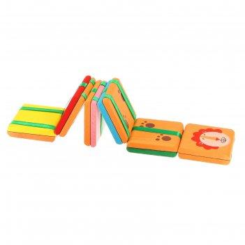 Головоломка с переворачивающимися цветными квадратами с рисунком 6 видов,