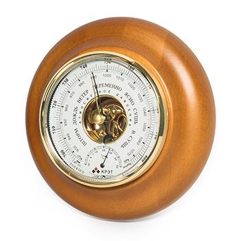 Барометр термометр бтк-сн 18 белый, 21х5см