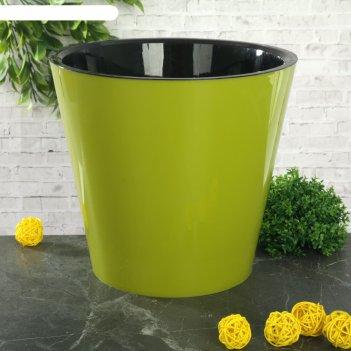 Горшок для цветов 5 л фиджи, d=23 см, цвет салатовый