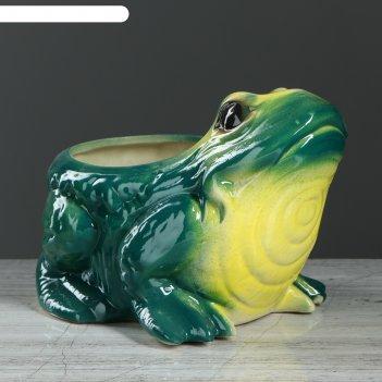 Фигурное кашпо 1,3 л жаба