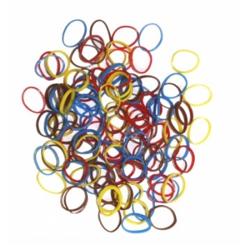 Резинки для волос dewal цветные силикон, mix mini (100шт)