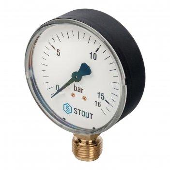 Манометр stout sim-0010-801615, радиальный, dn80, g1/2