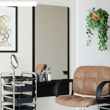 Зеркало парикмахерское, economus, цвет морское дерево