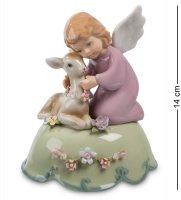 Cms-11/19 муз. фигурка ангелочек с олененком (pavone)