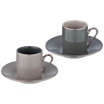 Кофейный набор на 2 персоны , 4 пр 100 мл (кор=36набор.)