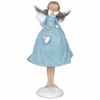 Фигуркаангелочек в голубом платье 8*6,5*15 см