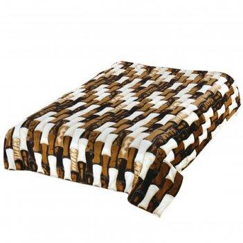 Плед tf fn f53br, размер 150 x 200 см, коричневый