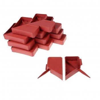 Ограждение декоративное, 13 x 300 см, 24 секции, пластик, терракотовое, «к