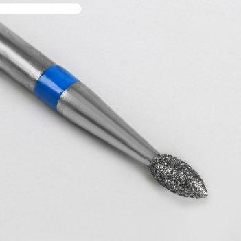 Фреза алмазная для аппаратного маникюра «пламя», средняя зернистость, 2,1