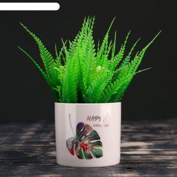Кашпо фарфоровое листья на   8*7,5см микс