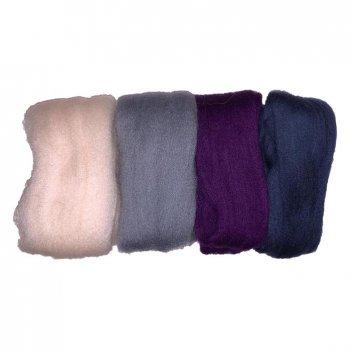 Набор шерсти для валяния рто гортензия