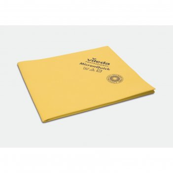 Салфетка для профессиональной уборки микронквик 38х40 см, цвет желтый