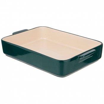 Блюдо для запекания и выпечки прямоуг. 35*24*6 см зеленое без декора