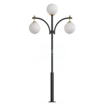Стальной фонарный столб т-12-3 со светильником 5,161 м