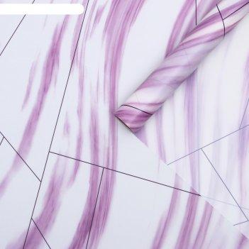 Пленка для цветов облака фиолетовый, 0,58 х 10 м