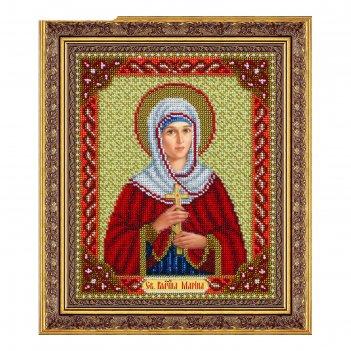Набор для вышивки бисером «святая великомученица марина»