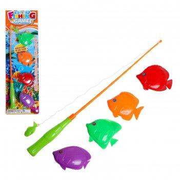 Игра магнитная «весёлая рыбалка», удочка, 4 рыбки