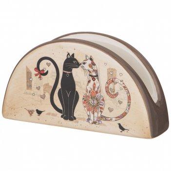 Салфетница парижские коты 13,5*4 см. высота=7 см.