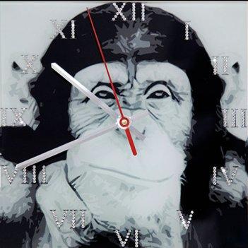Картина сваровски - часы обезьяна