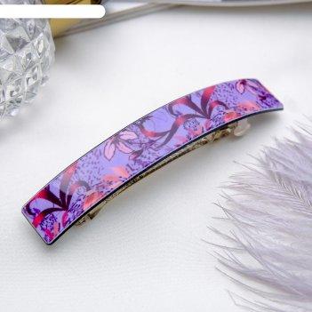 Заколка-автомат для волос цветочный бриз 8,3 см микс