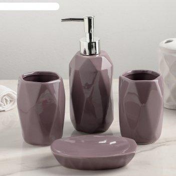 Набор аксессуаров для ванной комнаты, 4 предмета изящный стиль