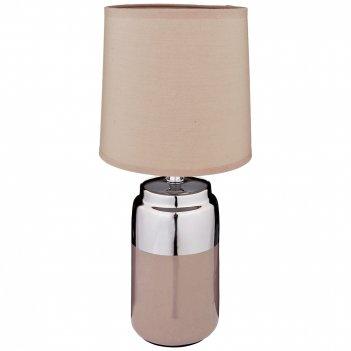 Светильник с абажуром высота=36 см. диаметр=16 см.