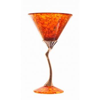 Фужер из янтаря для мартини лето